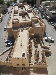 Nizwa souk building from the top of Nizwa fort
