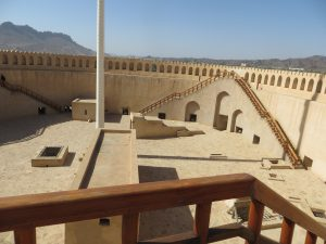 The rounded walls of Nizwa fort