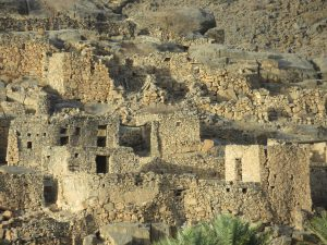 Ruins of Al Ain Ross mountain village in Jebel Al Akhdar