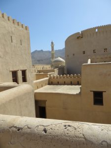 The walls and buildings of Nizwa fort