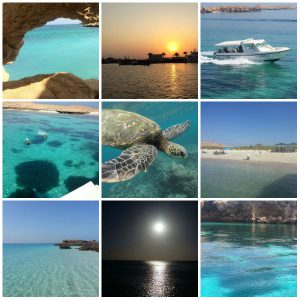 A collage of pictures from Dayminayat Islands